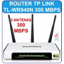 Router Inalambrico Tp-link 300mbps Wifi 3 Antenas Tl-wr940n