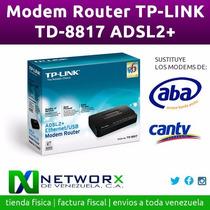 Modem Router Tp-link Td-8817 Adsl2+ Usb Rj45 Red Aba Cantv