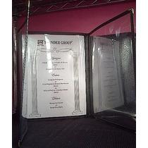 Carpeta Negra 3 Partes P/menu 22x28cm H 4921 Xavi