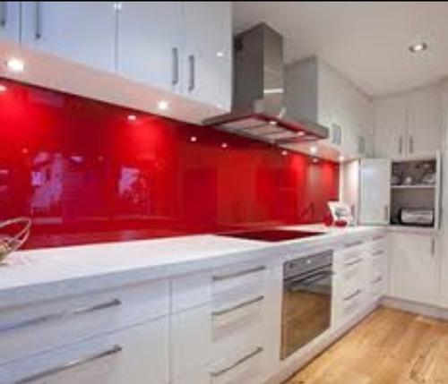 Salpicadero fachadas de vidrio para cocinas caracas - Cristal para cocina ...