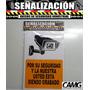 Avisos De Señalización Camara De Seguridad. Crvd