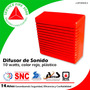 Difusor De Sonido De 10 Watts, Color Rojo, Plástico