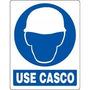 Avisos Seguridad En Vinil (obligacion) De 21cm X 18cm Casco