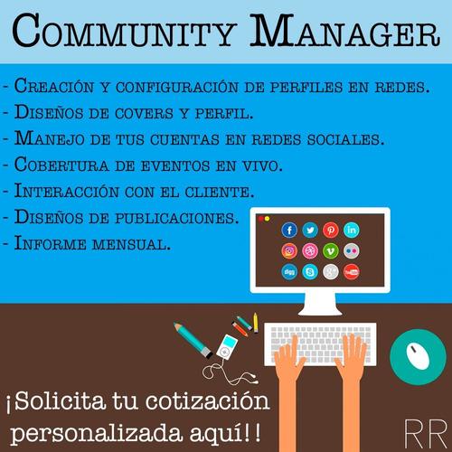 Servicio De Community Manager, Redes Sociales
