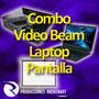 Alquiler De Combo Vídeo Beam Pantalla, Laptop