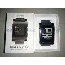 Pebble Smart Watch Reloj Para Iphone Y Android Usado!