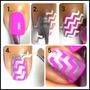 Calcomanias Sticker Zig Zag Guias Para Uñas Y Manicure