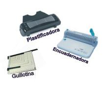 Plastificadora, Encuadernadora Y Guillotina En Combo!!!
