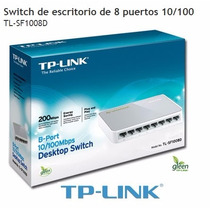 Switch Tp-link Tl-sf1008d 8 Puertos 10/100 Red Rj45 Garantia