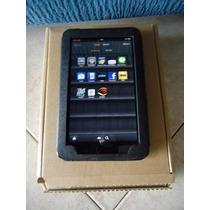 Tablet Kindle Fire Amazon Con Cargador + Forro De Cuero
