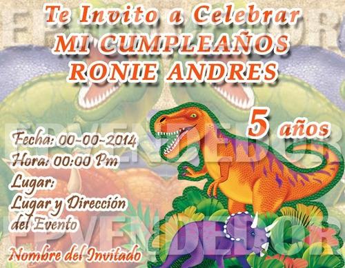 Tarjetas De Invitación Cumpleaños Dinosaurios Imagui