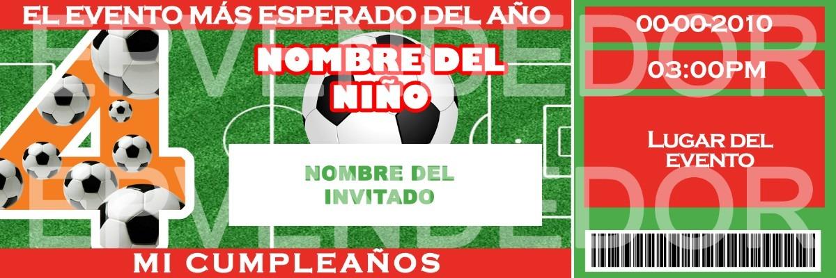 Tarjetas De Invitacion Futbol - Football Invitaciones Epvend - Bs. 25