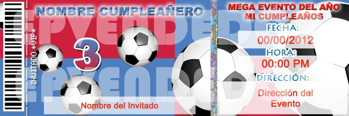 Tarjetas Invitacion Cumpleanos De Futbol