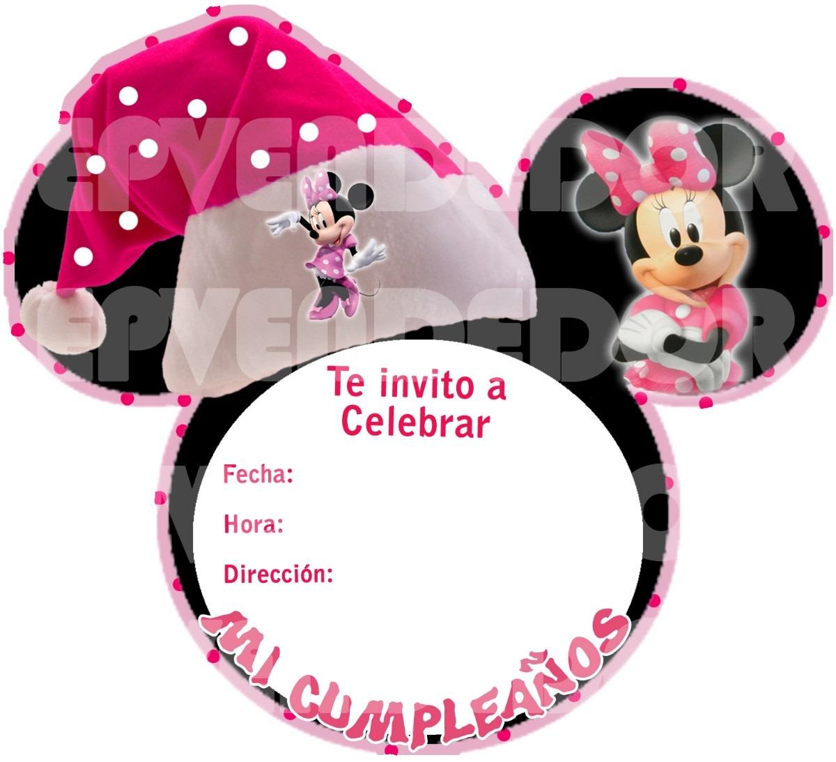 Tarjetas Invitación De Minnie Imagui