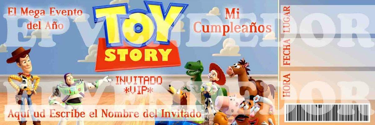 Tarjetas De Invitacion Toy Story - Epvendedor - Bs. 25,00 en