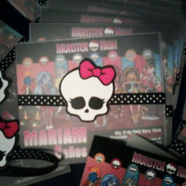 Monster High - 12 Tarjetas De Invitación Personalizadas