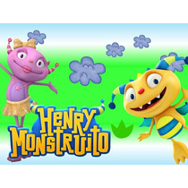 Kit Imprimible Henry Monstrito Caja Etiquetas Invitacion