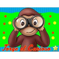 Kit Imprimible Jorge El Curioso Caja Etiqueta Invitaciones