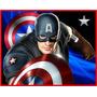 Kit Imprimible Capitan America Invitacion Caja Etiquetas