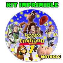 Kit Imprimible Toy Story 3 Tarjetas Cajas Imagenes Cotillon