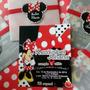 Minnie Mouse Roja Chic - 12 Tarjetas De Invitación Personali
