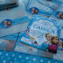 Frozen Una Aventura Congelada - 12 Tarjetas De Invitación