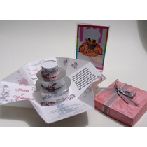 Tarjeta Invitacion: Caja Explosiva Para Boda Con Torta 3d.