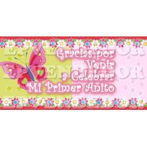 Tarjetas Para Cotillon Mariposas Y Flores - Invitaciones Epv