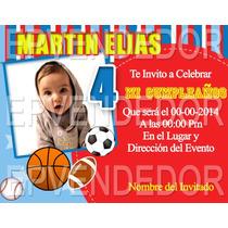Tarjetas De Invitacion Baby Shower Balones O Pelotas