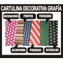 Cartulina Decorativa Grafía Tarjetería Manualidades