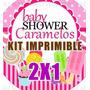 Kit Imprimible Baby Shower Caramelos 2x1