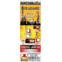 Tarjetas De Invitacion Kick Buttowski Tipo Ticket