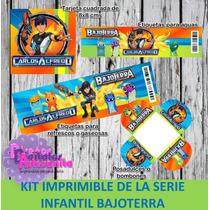 Kit De Fiesta Imprimible Bajoterra Slugterra Personalizado