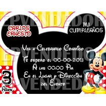 Tarjetas De Invitacion Mickey Y Minnie Mouse - Invitaciones