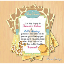 Kit Imprimible Baby Shower Zoo Safari Varon Pdf