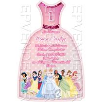 Tarjetas De Invitacion Princesas Disney -invitaciones Epv