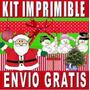 Kit Imprimible Navidad Cajas Candy Bar Armables Invitaciones