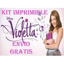 Kit Imprimible Violetta Tarjeta Cotillon, Invitacion, Fiesta
