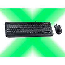 Combo Teclado Mouse Microsoft Wired 400 Usb Alambrico Xcel