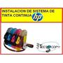 Instalacion De Sistema De Tinta Continua Hp (garantizado)