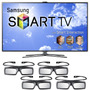 Nuevo!! Samsung 3d Smart Tv Led 40 Un40es7500 + 4 Lentes