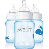 Set De 3 Teteros Clásicos Philips Avent De 9oz / 260ml
