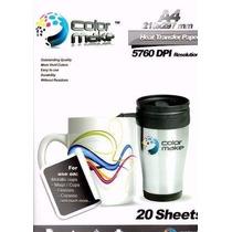 Papel Para Sublimacion Colormake A4 20 Paginas