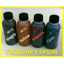 Kit Tinta Para Recarga D Cartuchos Sistemas Hp Y Epson 60cc
