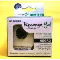 Kit De Recarga De Cartuchos Hp 21,27,56 Negro