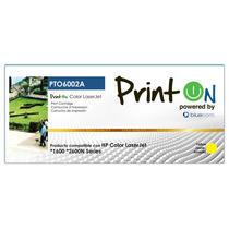 Printon Toner Pto6002a Hp 124a Yellow Color Laser Jet 1600