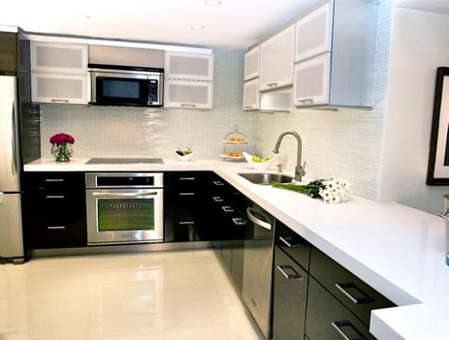 Cocinas con topes de marmol imagui for Granito o silestone para cocinas