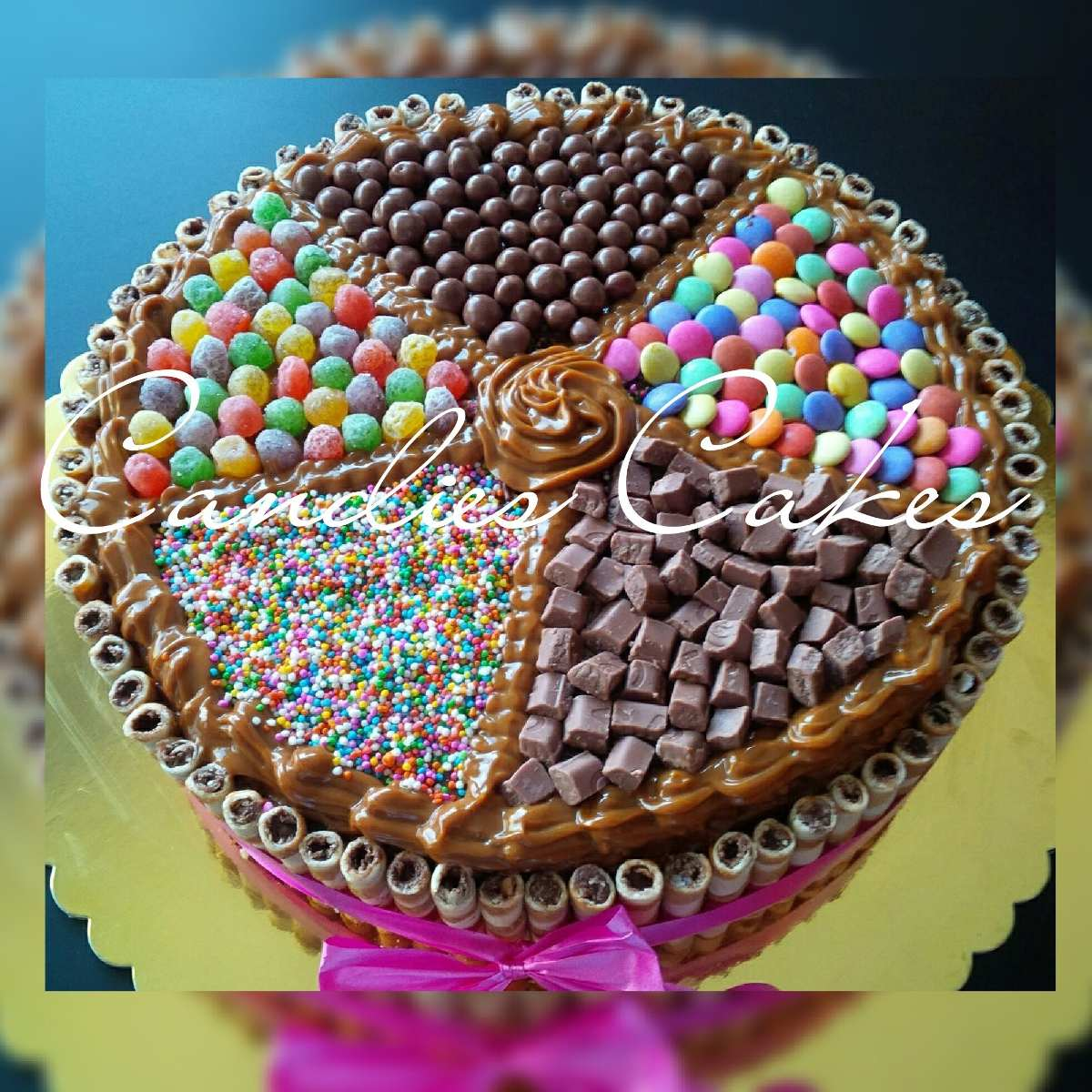Torta de chocolate decorada con pirulin y dandy - Imagui
