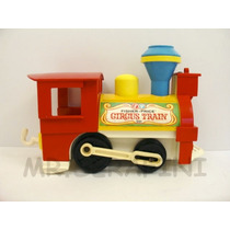 Fisher Price Locomotora Del Tren Circus Train Vintage