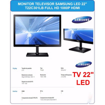 Tv Monitor 22 Pulg Samsung Led Full Hd 1080p Hdmi Serie 3